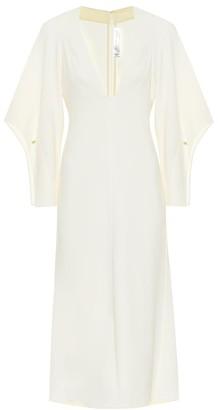 Victoria Beckham Stretch-cady midi dress