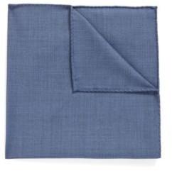 HUGO BOSS - Pocket square in traceable Merino wool - Open Blue