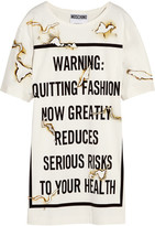 Moschino Printed Satin Mini Dress - White
