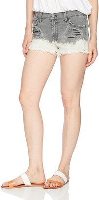 James Jeans Women's Marlo High Rise Mom Shorts Milk & Cookies 27