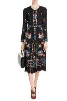 Vilshenko Printed Silk Dress