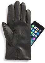 John W. Nordstrom Faux Fur Lined Leather Touchscreen Gloves