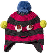 Barts Pink Stripe Monster Beanie