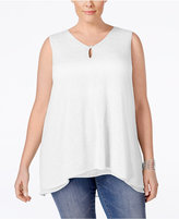 Style&Co. Style & Co. Plus Size Handkerchief-Hem Top, Only at Macy's