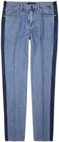 Plac Blue Striped Straight-leg Jeans