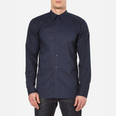HUGO Men's Elisha Long Sleeve Shirt Navy