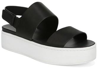 Vince Westport Colorblock Leather Flatform Slingback Sandals