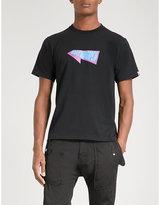 A Bathing Ape Black Printed Bmx 02 Cotton-jersey T-shirt