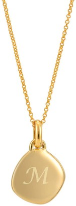 Katie Belle Lena 18ct Gold Vermeil Pebble Necklace with initial engraving