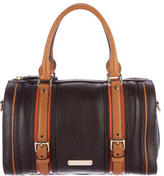 Burberry Leather Colorblock Satchel