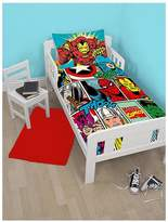 Marvel Comic Strike Toddler Duvet Cover Set