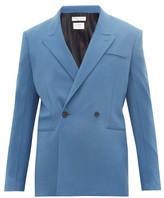 Bottega Veneta Double-breasted Cashmere-blend Suit Jacket - Mens - Blue
