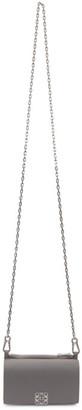 Loewe Grey Anagram Chain Wallet Bag