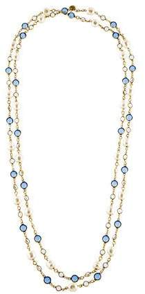 Chanel Crystal & Faux Pearl Sautoir Necklace