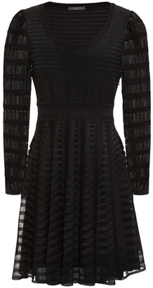 Alexander McQueen Embroidered Open-knit Mini Dress
