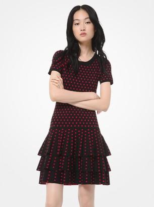 MICHAEL Michael Kors Dot Viscose-Blend Ruffled T-Shirt Dress