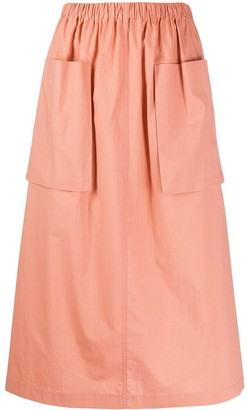Roberto Collina Two Pocket Midi Skirt