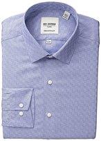 Ben Sherman Men's Skinny Fit Textured Spread Collar Dress Shirt