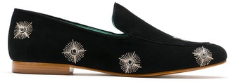 Blue Bird Shoes Embellished Suede Loafers