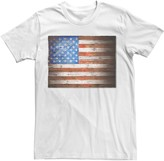Licensed Character Men's Wooden American Flag Graphic Tee