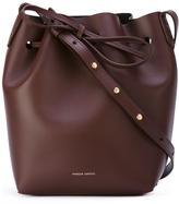 Mansur Gavriel Mini Bucket Bag - Burgundy