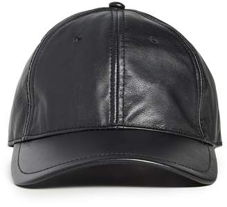 Rag & Bone Archie Leather Baseball Cap