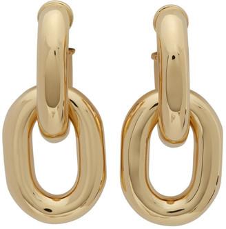 Paco Rabanne Gold XL Hanging Hoop Earrings
