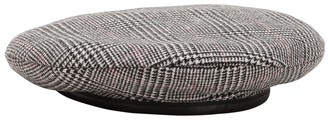 Don Plaid Merino Wool Beret