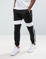 Hype Skinny Joggers In Black With Taping