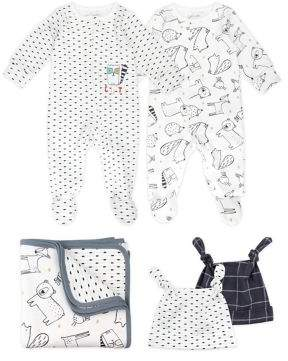 M·A·C Mac & Moon Baby's Woodland Friends 5-Piece Cotton Take Me Home Set