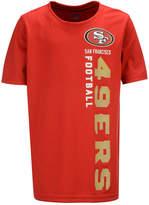 Outerstuff San Francisco 49ers Vertical Gravity Field T-Shirt, Big Boys (8-20)