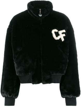 Chiara Ferragni Faux Fur Bomber Jacket
