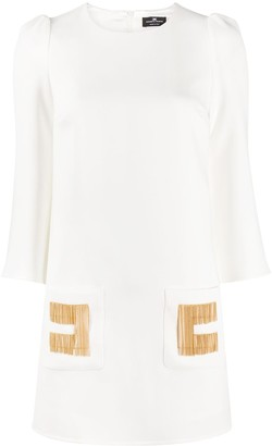 Elisabetta Franchi Fringe Detail Mini Dress