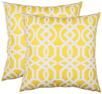 Homey Cozy Outdoor Pillow Cover, Lattice Trellis - Set of 2