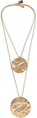 Rosantica Hammered Gold-tone Necklace - one size