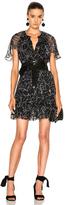Lover Tuberose Mini Dress in Black,Floral.