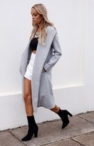 Beginning Boutique Spencer Trench Coat Grey