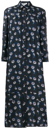 Kenzo Floral Print Shirt Dress