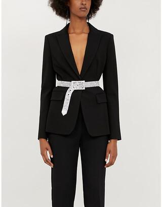 Pinko Signum 7 slim-fit stretch-ponté blazer