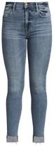 Frame Le High Skinny Raw Hem High-Rise Jeans