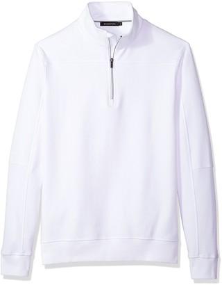 Bugatchi Men's Long Sleeve Solid Half Zip Mock Pullover