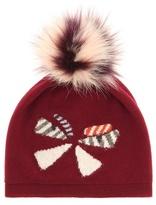 Fendi Fur-trimmed wool hat