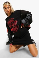 Thumbnail for your product : boohoo Tall Coca Cola License T-shirt Dress