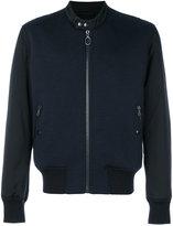 Lanvin two-tone bomber jacket - men - Cotton/Polyamide/Polyester/Virgin Wool - 48