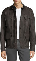 Belstaff Woodbridge Leather Utility Jacket
