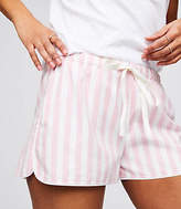 LOFT Striped Flannel Pajama Shorts