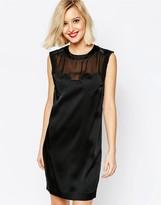 Love Moschino Sleeveless Heart Dress in Black