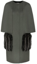 Fendi Wool and fur coat