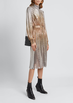 Paco Rabanne Chainmail Ombre Mesh Dress