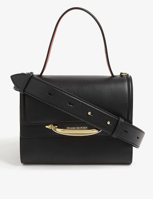 Alexander McQueen Story double flap leather bag